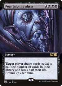 Peer Into the Abyss (Extended Art), Magic: The Gathering, Core Set 2021