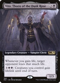 Vito, Thorn of the Dusk Rose (Extended Art), Magic: The Gathering, Core Set 2021