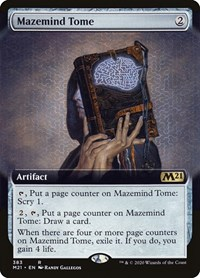 Mazemind Tome (Extended Art), Magic: The Gathering, Core Set 2021