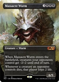 Massacre Wurm (Alternate Art), Magic: The Gathering, Core Set 2021