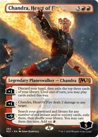 Chandra, Heart of Fire (Borderless), Magic: The Gathering, Core Set 2021