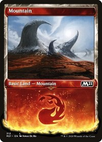 Mountain (Showcase), Magic: The Gathering, Core Set 2021