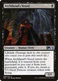 Archfiend's Vessel, Magic: The Gathering, Core Set 2021