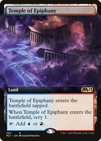 Temple of Epiphany (Extended Art), Magic: The Gathering, Core Set 2021