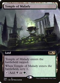 Temple of Malady (Extended Art), Magic: The Gathering, Core Set 2021