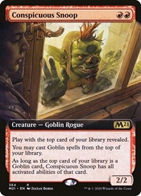 Conspicuous Snoop (Extended Art), Magic: The Gathering, Core Set 2021