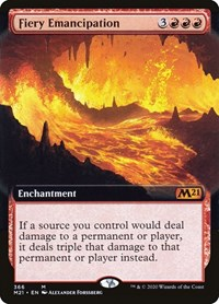 Fiery Emancipation (Extended Art), Magic: The Gathering, Core Set 2021
