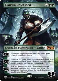 Garruk, Unleashed (Borderless), Magic: The Gathering, Core Set 2021