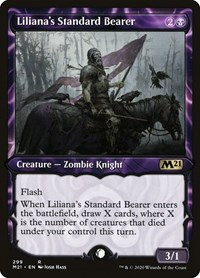 Liliana's Standard Bearer (Showcase), Magic: The Gathering, Core Set 2021