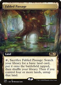 Fabled Passage (Extended Art), Magic: The Gathering, Core Set 2021