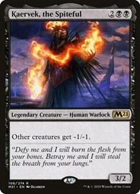Kaervek, the Spiteful, Magic: The Gathering, Core Set 2021