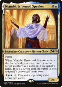 Niambi, Esteemed Speaker, Magic: The Gathering, Core Set 2021
