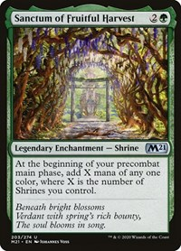 Sanctum of Fruitful Harvest, Magic: The Gathering, Core Set 2021