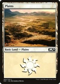 Plains (262), Magic, Core Set 2021