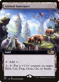 Animal Sanctuary (Extended Art), Magic: The Gathering, Core Set 2021