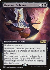 Demonic Embrace (Extended Art), Magic: The Gathering, Core Set 2021