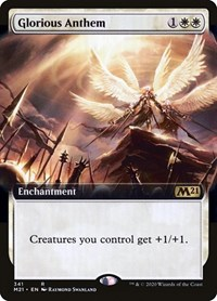 Glorious Anthem (Extended Art), Magic: The Gathering, Core Set 2021