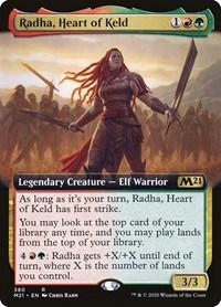 Radha, Heart of Keld (Extended Art), Magic: The Gathering, Core Set 2021