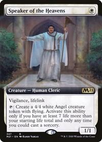 Speaker of the Heavens (Extended Art), Magic: The Gathering, Core Set 2021