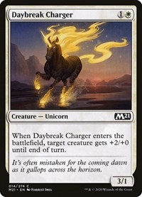 Daybreak Charger, Magic, Core Set 2021