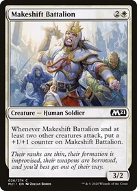 Makeshift Battalion, Magic: The Gathering, Core Set 2021