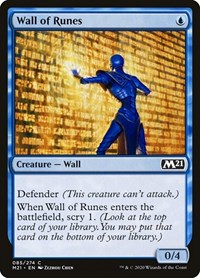 Wall of Runes, Magic: The Gathering, Core Set 2021