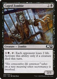 Caged Zombie, Magic, Core Set 2021