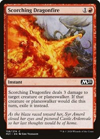 Scorching Dragonfire, Magic, Core Set 2021
