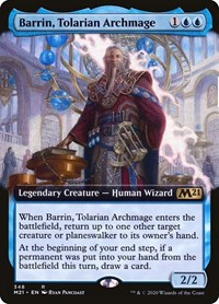 Barrin, Tolarian Archmage (Extended Art), Magic: The Gathering, Core Set 2021