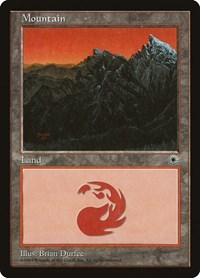 Mountain (Peaks Right), Magic: The Gathering, Portal