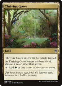 Thriving Grove, Magic: The Gathering, Jumpstart