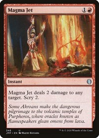 Magma Jet, Magic: The Gathering, Jumpstart