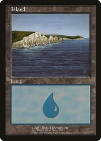 Island - White Cliffs of Dover, Magic: The Gathering, European Lands