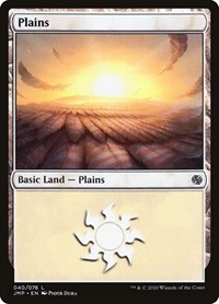 Plains (40), Magic: The Gathering, Jumpstart