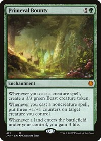 Primeval Bounty, Magic: The Gathering, Jumpstart
