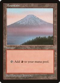 Mountain - Clear Pack (Beard, Jr.), Magic: The Gathering, APAC Lands