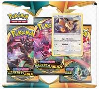 Darkness Ablaze 3 Pack Blister [Eevee], Pokemon, SWSH03: Darkness Ablaze