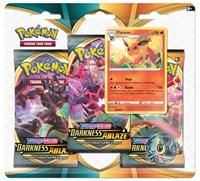 Darkness Ablaze 3 Pack Blister [Flareon], Pokemon, SWSH03: Darkness Ablaze
