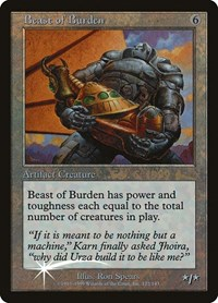 Beast of Burden, Magic: The Gathering, Prerelease Cards