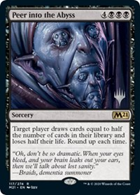 Peer into the Abyss, Magic: The Gathering, Promo Pack: Core Set 2021