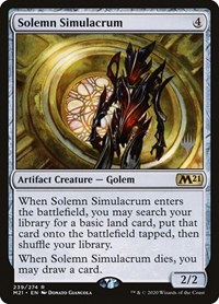 Solemn Simulacrum, Magic: The Gathering, Promo Pack: Core Set 2021