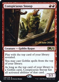 Conspicuous Snoop, Magic: The Gathering, Prerelease Cards