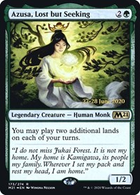 Azusa, Lost but Seeking, Magic: The Gathering, Prerelease Cards