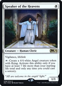 Speaker of the Heavens, Magic: The Gathering, Prerelease Cards