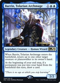 Barrin, Tolarian Archmage, Magic: The Gathering, Prerelease Cards
