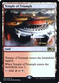 Temple of Triumph (M21), Magic: The Gathering, Prerelease Cards