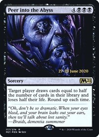 Peer into the Abyss, Magic: The Gathering, Prerelease Cards