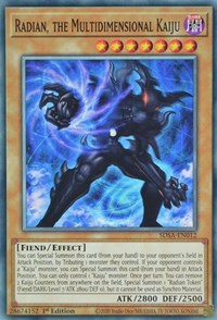 Radian, the Multidimensional Kaiju, YuGiOh, Structure Deck: Sacred Beasts