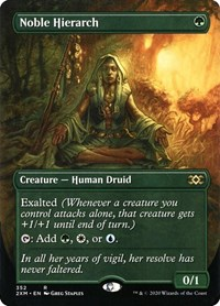 Noble Hierarch (Borderless), Magic: The Gathering, Double Masters