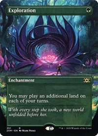 Exploration (Borderless), Magic: The Gathering, Double Masters